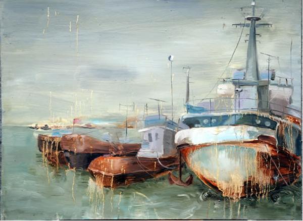 学生美术设计作品:锈船